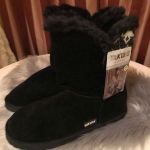 Muk Luks Black size 10 Woman's Boots